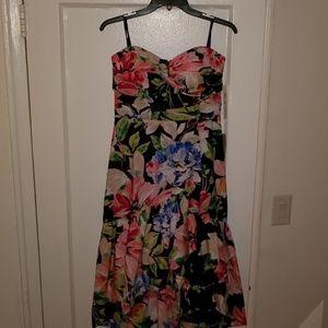 Strapless high/low dress. Never worn!